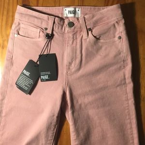 Pink Paige jeans Jacqueline Strait Raw Vintage